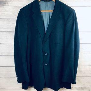 V Vintage Donmark Blue Suede Men's Blazer